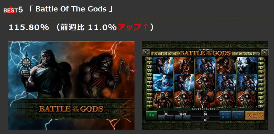best5「 Battle Of The Gods 」